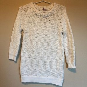 Zara Knitwear Cream Slouch Sweater